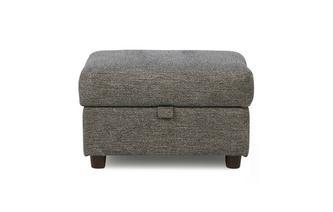 Weave Fabric Storage Footstool Marl Weave