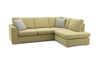 Marquee Left Hand Facing Arm Open End Deluxe Corner Sofa Bed Plaza