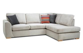 Left Hand Facing Arm Open End Deluxe Corner Sofa Bed