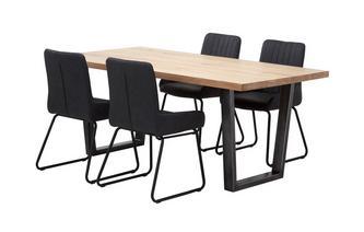 Fixed Top Table & 4 Bucket Chairs Mason