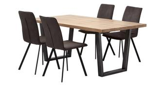 Mason Fixed Top Table & 4 Fabric Chairs