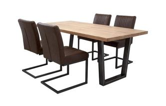 Fixed Top Table & 4 Cantilever Chairs Mason