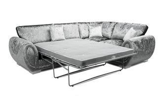 Formal Back Left Hand Facing 3 Seater Deluxe Corner Sofa Bed