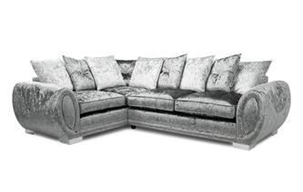 Pillow Back Right Hand Facing 3 Seater Supreme Corner Sofa Bed