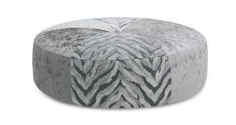 Meribel Pattern Round Footstool