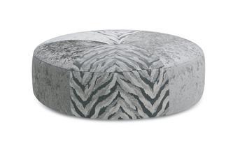Pattern Round Footstool Cheska