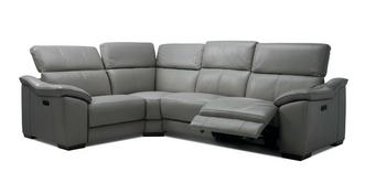Messina Option L Right Hand Facing 1 Corner 2 Power Plus Double Recliner