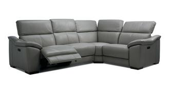 Messina Option H Left Hand Facing 2 Corner 1 Power Plus Double Recliner