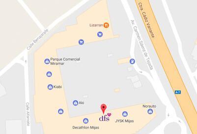 DFS Mijas Costa map