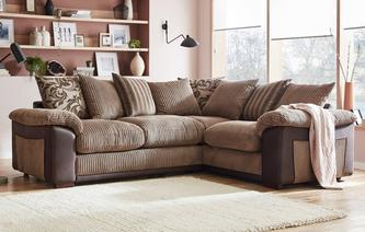 Mitchell Pillow Back Left Hand Facing 2 Seater Corner Sofa Inception