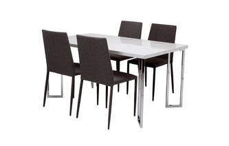 Fixed Top Table and 4 Zenn Chairs Moda