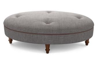 Plain Oval Footstool Moray