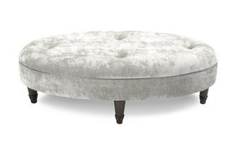 Velvet Oval Footstool Moray Alternative