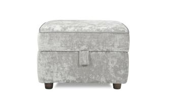 Velvet Storage Footstool Moray Alternative