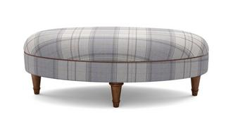 Moray Check Oval Footstool