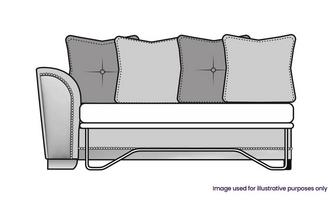 Pillow Back Left Hand Facing 1 Arm 3 Seat Deluxe Sofa Bed Unit
