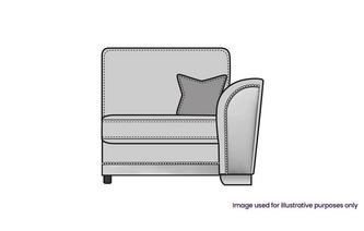 Formal Back Right Hand Facing 1 Arm 1 Seat Unit