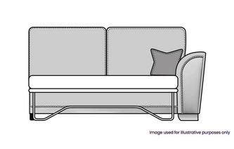 Formal Back Right Hand Facing 1 Arm 3 Seat Deluxe Sofa Bed Unit