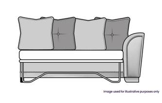 Pillow Back Right Hand Facing 1 Arm 3 Seat Supreme Sofa Bed Unit