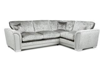 Formal Back Left Hand Facing Arm 3 Seater Corner Sofa