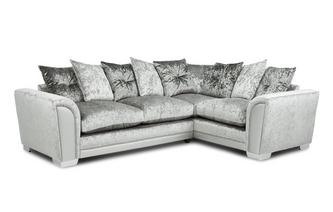 Pillow Back Left Hand Facing Arm 3 Seat Supreme Corner Sofa Bed