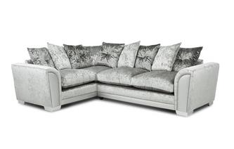 Pillow Back Right Hand Facing Arm 3 Seat Supreme Corner Sofa Bed