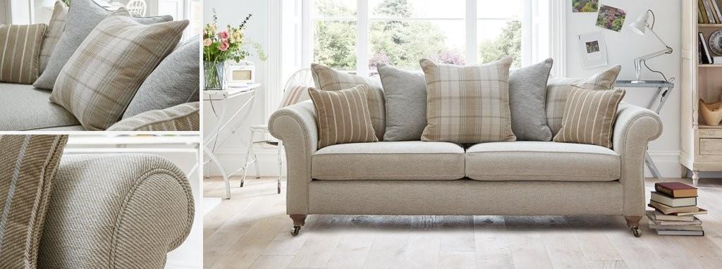 Morland Plaid 2 Seater Formal Back Sofa Dfs Ireland