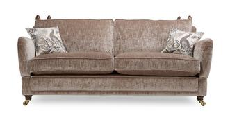 Morris 4 Seater Plain Formal Back Sofa