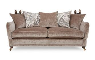 4 Seater Plain Pillow Back Sofa Morris