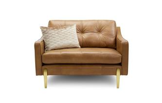Leather Snuggler Sofa