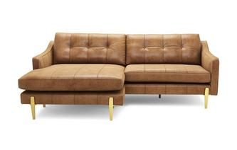 Leather 4 Seater Chaise Sofa