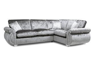 Formal Back Left Hand Facing Arm 3 Seater Supreme Corner Sofa Bed