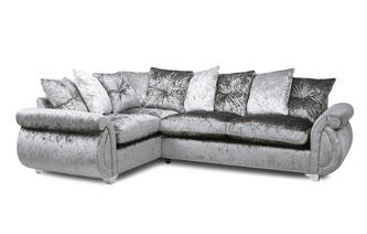 Pillow Back Right Hand Facing Arm 3 Seater Supreme Corner Sofa Bed