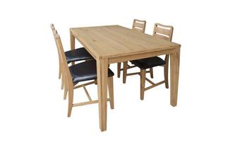 Fixed Top Table and 4 Slat Back Chairs