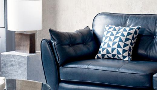 Natural Leather sofa roomset