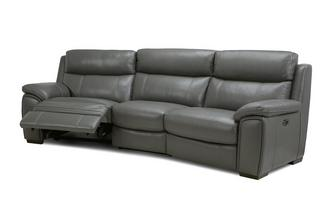 Option C 3 Piece Curved Power Recliner