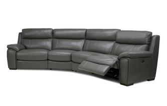 Option A 4 Piece Curved Power Recliner