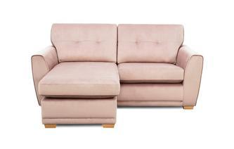 Velvet 3 Seater Lounger Sofa Removable Arm