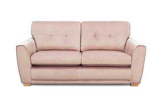 Velvet 3 Seater Sofa Removable Arm
