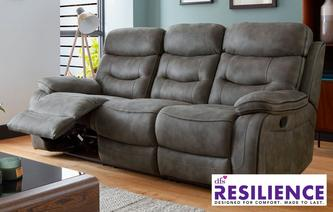 Noah Fabric 3 Seater Manual Recliner Sofa Noah