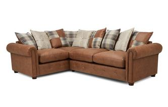 Pillow Back Right Hand Facing 3 Seater Deluxe Corner Sofa Bed