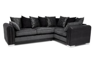 Pillow Back Left Hand Facing Deluxe Corner Sofa Bed