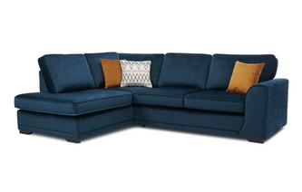 Right Hand Facing Open End Deluxe Corner Sofa Bed
