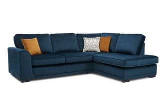 Left Hand Facing Open End Deluxe Corner Sofa Bed