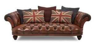 Oskar Large Brown Sofa