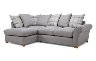 Pillow Back Right Hand Facing Arm Corner Sofa