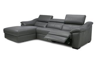 Left Hand Facing Double Power Sliding Chaise Sofa