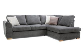 Pacha Left Hand Facing Arm Open End Corner Sofa Sherbet