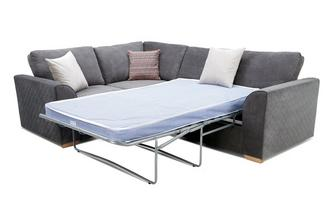 Right Hand Facing 2 Seater Deluxe Corner Sofa Bed