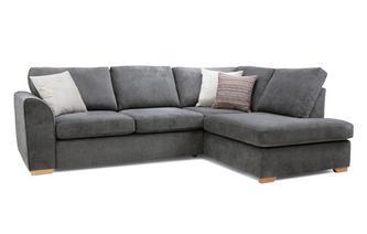 Left Hand Facing Arm Open End Deluxe Corner Sofa Bed